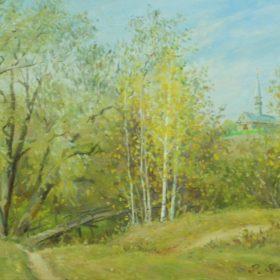 Яманова Р.Р.  Кушлавыч. Последние листья. 2001 Холст, масло
