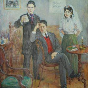 Гимаев З.Ф.  На заре ХХ века. 2006 Холст, масло